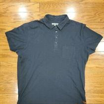 7 for All Mankind Polo Short Sleeve Shirt Cotton Casual Mens Size Xl Navy Photo