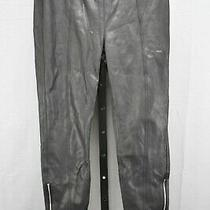 7 for All Mankind Seamed Faux Leather Leggings Women's Size 31 Black New Photo