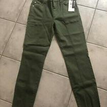 7 for All Mankind Size 27 Green Twill Pant Nwt Photo