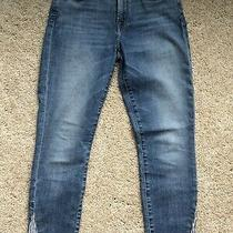 7 for All Mankind Size 27 Kick Pleats at Ankles Denim Jeans Ankle Pants 198 Photo