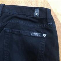 7 for All Mankind Skinny Jeans Size 29 Black Denim Photo