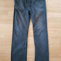 7 for All Mankind Standard Denim Jeans W36 L32 Faded Black Trouser Distress Pant Photo