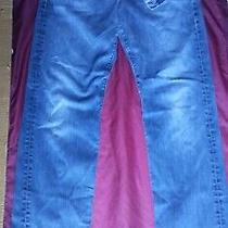 7 for All Mankind Straight Jeans 38 X 34 Medium Blue Photo