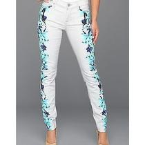 7 for All Mankind the Skinny in Placement Floral Photo