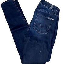 7 for All Mankind the Skinny Jean Blue Gently Worn Size 26 Photo