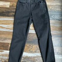7 for All Mankind the Skinny Stretch Seven Jeans Black Size 8 Highrise Short  Photo