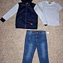 7 for All Mankind Toddler Boys 3 Piece Set (Hoodie Shirt Jeans)- Size 4t - Nwt Photo