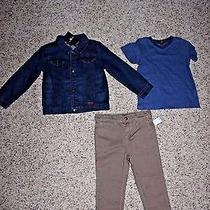 7 for All Mankind Toddler Boys 3 Piece Set (Jacket Shirt Jeans)- Size 3t - Nwt Photo