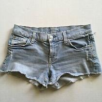 7 for All Mankind Womens Distressed Cut Off Jean Shorts Size 25 Photo