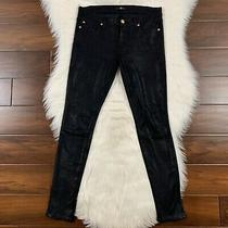 7 for All Mankind Women's Size 25 Black the Knee Seam Skinny Pants Photo