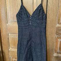 7 for All Mankind Womens Blue Spagetti Straps Jean Denim Mini Casual Dress Sm Photo
