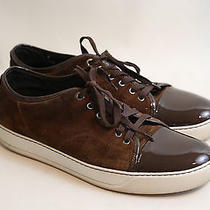 7 Lanvin Suede and Patent Leather Sneakers Size 11  Photo