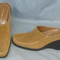 7 M Bandolino Arlette Khaki Suede Clogs New Shoes 52 Photo