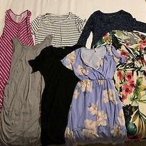 (7) Maternity Dresses (M L Xl) Liz Lange Pink Blush Photo