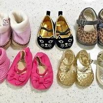 7 Pair Lot Baby Gap Girl Infant Nb 0-3 6-12 Months Sandals Booties Shoes Size 2  Photo