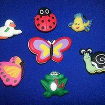 7 Pc Butterfly Ladybug Snail Bird Fish Frog Crocs Jibbitz Shoe Charms Bracelets Photo