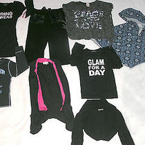 7 Tops & 1 Pair Pants Size 4&5 Flowers by Zoe-Dori Creations & Others Preowned Photo