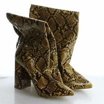 70-47 190 Women's Size 8 Jeffrey Campbell Siren Snake Knee High Boot in Yellow Photo