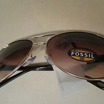 70 Fossil Authentic Fw12 Brown Women's Gradient Uv Protection Nwt Sunglasses Photo