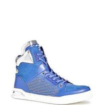 70 G by Guess Men's Theron High Top Sneakers Faux Suede-Leather Blue Size 9.5 Photo