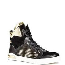 70 G by Guess Men's Theron High Top Sneakers Faux Suede-Leather Black Size 8.5 Photo