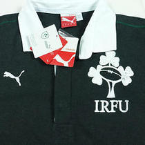 70 New Puma Irfu Rugby/ Polo Shirt Medium Gray M Irish Football Union Ireland Photo