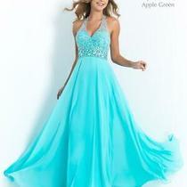 70% Off Prom Dress Blush Prom X2211 Color Aqua Size 6 Photo