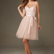 70% Off Short Dress Tulle Affair by Morilee 131 Color Blush Size 10 Photo