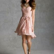 70% Off Short Homecoming Dress Affairs by Mori Lee 31035 Color Blush Size 16 Photo