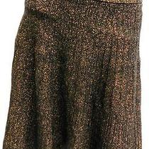 70 Rs Grace Elements Golden Black Elastic Waist Regular Size Shimmer Skirt L Photo