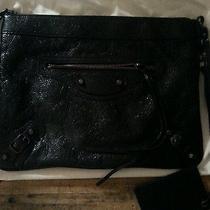 700 Balenciaga Big Flat Clutch Wrist Strap Wrinkly Leather Looks Like 05 Chevre Photo
