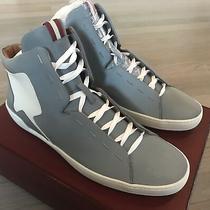 700 Bally Etius Gray Reflective Nylon High Tops Sneakers Size Us 10 Photo