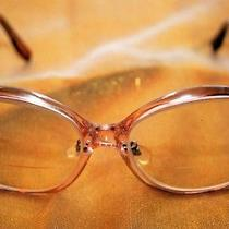 70s Vintage Eyeglasses Eye Glasses Eyewear Frames M/c Usa Bifocal Rose Blush  Photo