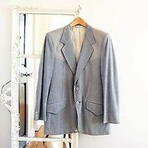 70s Vintage Men's 40 M-L American Craftsmen Light Gray Western Suit Coat Cowboy Photo