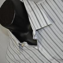 7186 New J Mens Express Modern Fit Striped Long Sleeve Dress Shirt Size Xl Photo