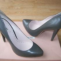 720 Miu Miu by Prada Shoes Platform Pumps Calf Leather Sz 40.5 Us 10.5 New Photo