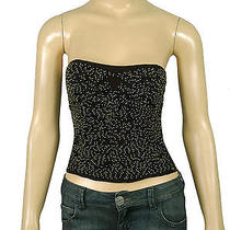 72639 New Silence  Noise Urban Outfitters Embellished Corset Black Tube Top S 6 Photo