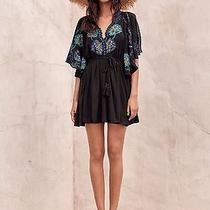 7386 New 148 Free People Cora Black Floral Embroidered Mini Tunic Dress Xs Photo