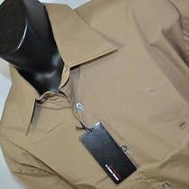 7445 New J Mens Express Modern Fit Tan Long Sleeve Dress Shirt Size 2xl Xxl Photo