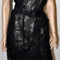 748 New Bcbg Max Azria Runway Tulle Sequin Black Short Formal Dress Gown S Photo