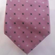 75 Dkny Men's Pink Geometric Suit Tie Skinny Slim Work Dress Shirt Tie 58x3 Photo