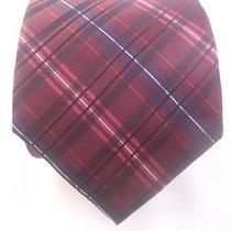 75 Dkny Men's Red Black Plaid Suit Tie Skinny Work Dress Shirt Tie 58x3.25 Photo