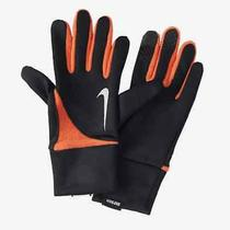 75 Nike Men Black Orange Element Thermal 2.0 Touch Winter Running Gloves Size M Photo