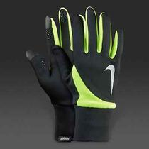 75 Nike Men's Black Green Element Thermal 2.0 Touch Winter Run Gloves Size Xl Photo