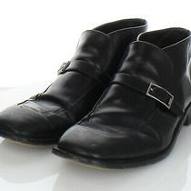 76-38 Men's Sz 12 M Bally Tiler Leather Buckle Strap Boots in Black Photo