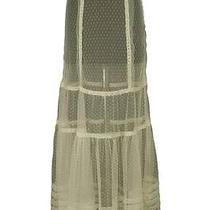 76017 Nwt 149 Kimchi Blue Urban Outfitters Lace Mesh Sheer Long Maxi Skirt S 2 Photo