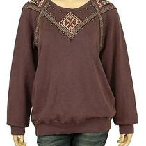 77154 New Ecote Urban Outfitters Lace Embellished Cotton Sweater Tunic Top L 12 Photo