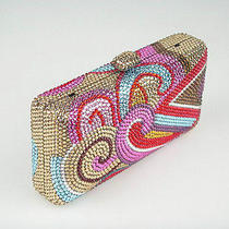 7753 Swarovski Crystal Colorful Cloud Evening Purse Clutch Bag in Free Shipment Photo