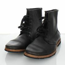 78-45 New Men's Sz 8 M Timberland Bardstown Leather Cap Toe Lace Up Boot - Black Photo