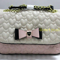 78 Betsey Johnson Blush Quilted Shoulder Bag Handbag Photo